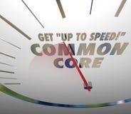 Dostaje Do prędkości na Pospolitego sedna szybkościomierza uczenie standardach Zdjęcia Royalty Free