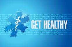 dostaje zdrowemu medycznemu symbolowi ilustracyjnego projekt Zdjęcia Stock