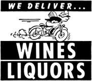 Dostarczamy wino trunki Zdjęcia Stock