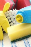 dostaw środków czyszczących Fotografia Stock