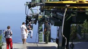 Dostawać do wierzchołka Capri krzesła dźwignięcie zbiory wideo