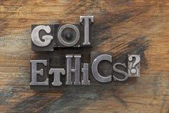 Dostawać etyki pytanie zdjęcia stock