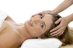dostawać kierowniczego masażu modela portret obrazy stock