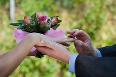 Dostawać poślubiający Fotografia Stock