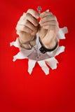 dostawać ręki kluczowe szakle Zdjęcia Stock