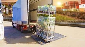 dostawa ciężarówką Ciężarowy logistyk budować dostawa ciężarówką Obraz Stock