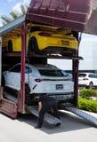 Dostawa Luksusowy samochód fotografia stock
