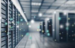 Dostawca Internetu, dane centrum Obrazy Stock