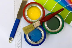 Dostawy dla malować Obraz Stock