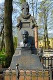 dostoevsky坟茔 库存图片