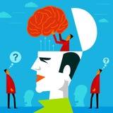 Dostosowywać umysł w ludzkiej głowie Zdjęcie Royalty Free
