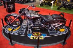 Dostosowywający Harley-Davidson FXSBSE CVO wybuch Zdjęcia Royalty Free