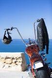 Dostosowywający siekacza motocykl zdjęcia stock