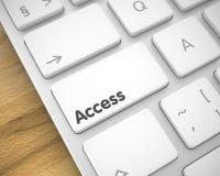 Dostęp - inskrypcja na Białej Klawiaturowej klawiaturze 3d Obraz Royalty Free