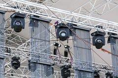 Dostrzega oświetlenie pod dachem plenerowa koncertowa scena Obraz Stock