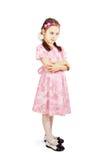 Dosyć śliczna młoda dziewczyna jest ubranym różową suknię zdjęcie royalty free