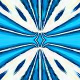 Dosyć błękitny promieni mandala, kalejdoskopów świezi kolory Zdjęcia Royalty Free