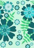 dosyć bezszwowy błękitny kwiecisty wzór Zdjęcia Stock
