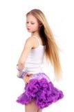 dosyć dancingowa dziewczyna Zdjęcia Royalty Free