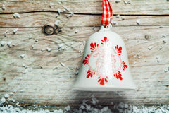 Dosyć dekorujący Bożenarodzeniowy dzwon Obraz Royalty Free