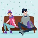 Dosyć flirtować pary Zdjęcie Stock