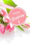 Dosyć kobiecy wszystkiego najlepszego z okazji urodzin powitanie zdjęcie royalty free