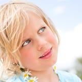 Dosyć Mała Blond dziewczyna Zdjęcia Stock