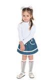 Dosyć mała dziewczyna przeciw bielowi Obraz Stock