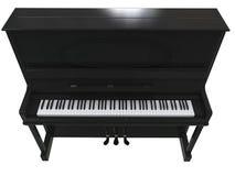 Dosyć mały pianino - odgórny widok zdjęcia stock