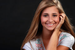 dosyć nastoletnia blond dziewczyna obraz royalty free