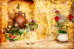 Dosyć stary podwórze zdjęcie royalty free