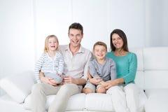 Dosyć szczęśliwa rodzina Fotografia Stock