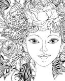 Dosyć elegancka komiczki dziewczyna Obraz Royalty Free