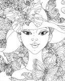 Dosyć elegancka komiczki dziewczyna Obrazy Royalty Free