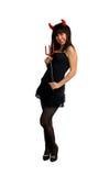 dosyć kostiumowa czarcia dziewczyna Zdjęcie Royalty Free