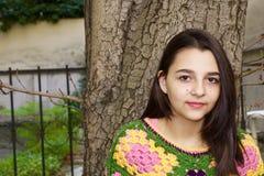 Dosyć nastoletni dziewczyna portret zdjęcia stock