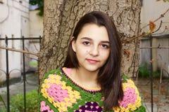 Dosyć nastoletni dziewczyna portret zdjęcia royalty free