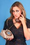 dosyć target408_0_ telefoniczna prawdziwa kobieta Fotografia Stock