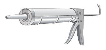 doszczelnia pistolet Zdjęcie Stock