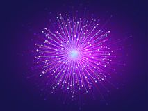 Dot abstract. Graphic image of light radius sparkle fireworks as element abstract background, vector art Stock Photo