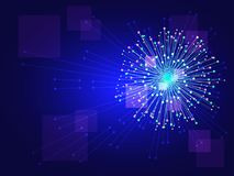 Dot abstract. Graphic image of light radius sparkle fireworks as element abstract background, vector art Stock Image