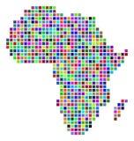 Dot Africa Map multicolor Ilustración del Vector