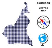Dot African Cameroon Map Photos stock