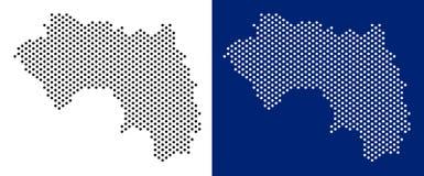 Dot African Guinea Map Stock de ilustración