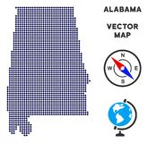 Dot Alabama State Map illustration de vecteur