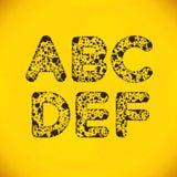 Dot Alphabet de A a F Imágenes de archivo libres de regalías