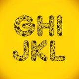 Dot Alphabet från G till L Arkivfoto