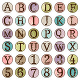 Dot Alphabet Set Royaltyfri Bild