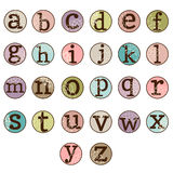 Dot Alphabet Set Stockbild