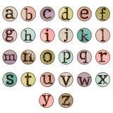 Dot Alphabet Set Stock Image